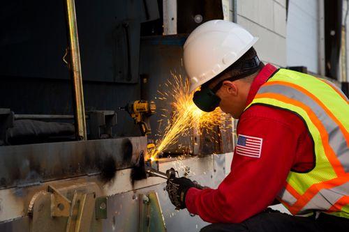 Loading dock leveler repair from Miner